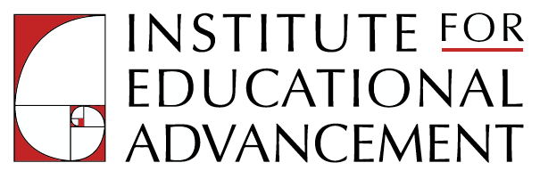 Logo for the Institute for Educational Advancement, showing the golden ratio on the left.